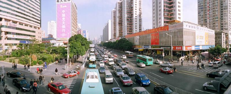 Traffic in Futian District
